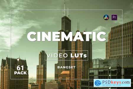 Bangset Cinematic Pack 61 Video LUTs YV9ZSNA