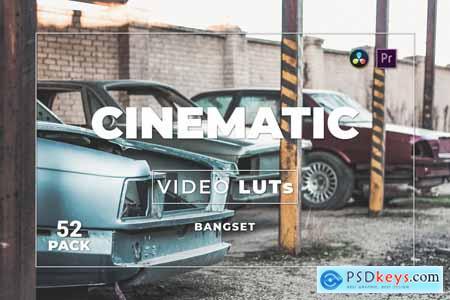 Bangset Cinematic Pack 52 Video LUTs CXQG649