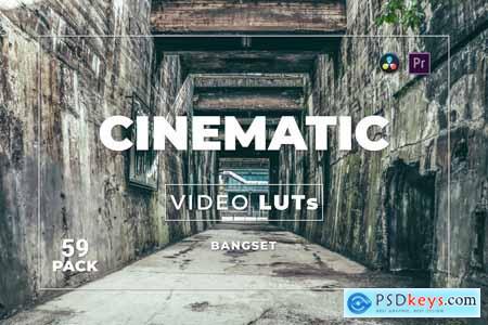 Bangset Cinematic Pack 59 Video LUTs 9LGL8DG