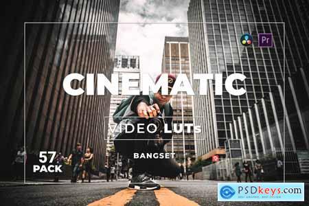 Bangset Cinematic Pack 57 Video LUTs 86T2YDB