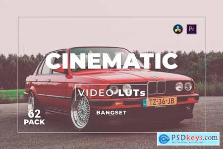 Bangset Cinematic Pack 62 Video LUTs V3ZFTGV