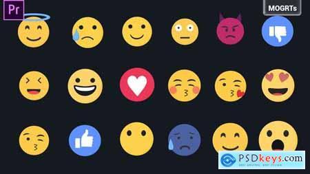 Emojis Pack MOGRTs 33590094