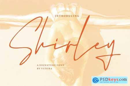 Shirley A Signature Font