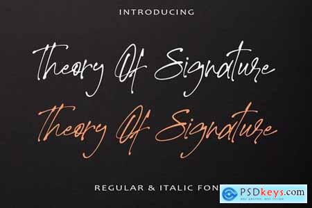 Theory Of Signature