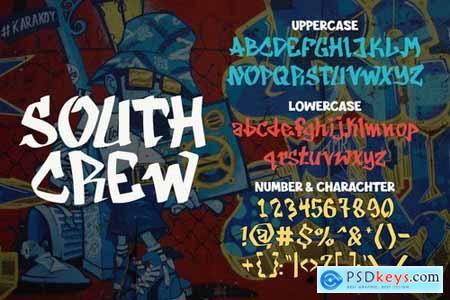 South Crew - graffiti font