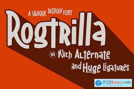 Rogtrilla - A Unique Display Font