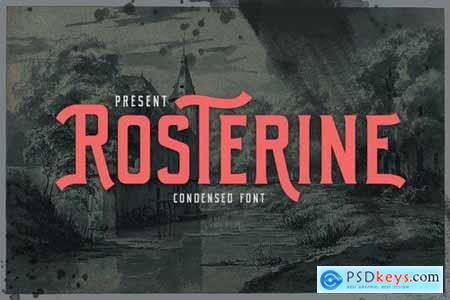 Rosterine - Condensed Font