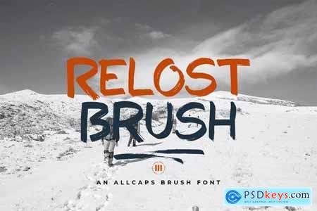 Relost Brush - A Wild Brush Font