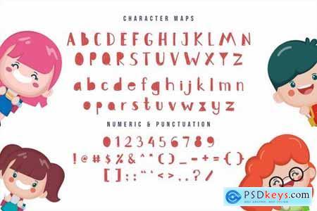 Zupa Lumpa- Cute kids font