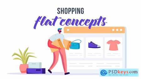 Shopping - Flat Concept 33639519