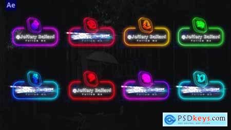 Neon Social Media Lowerthirds 33670188