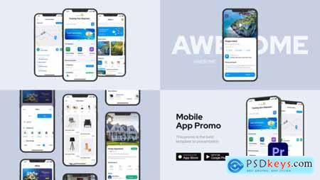 Clean Mobile App Promo for Premiere Pro 33651785