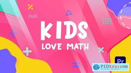 Kids Love Math Slideshow Premiere Pro MOGRT 33635957