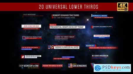 Universal Lower Thirds 19432267