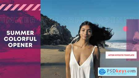 Summer Colorful Opener - After Effects Template 33594520