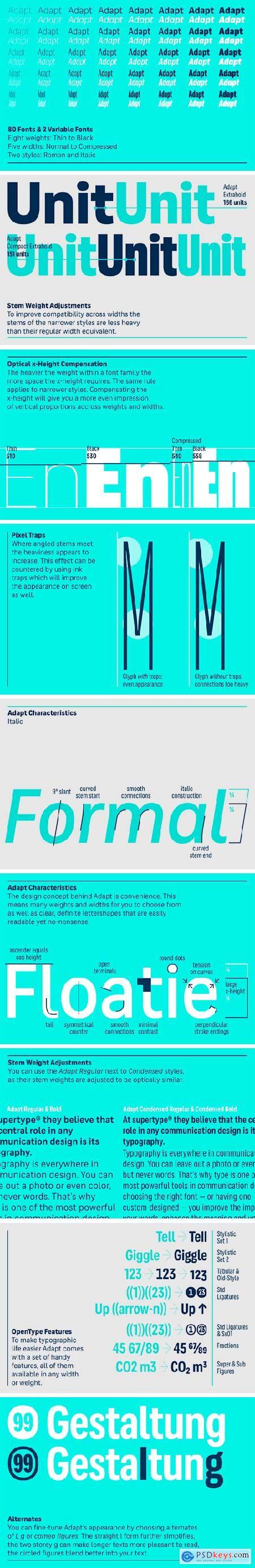 Adapt Font Family