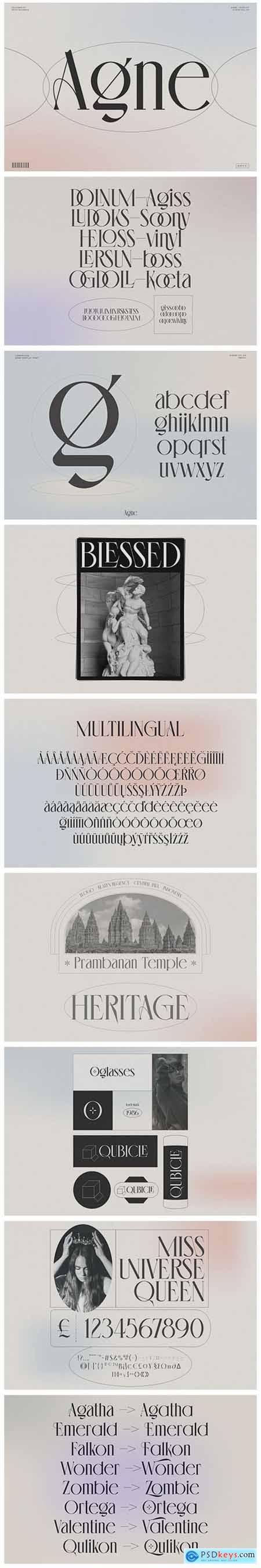 Agne - Display Font