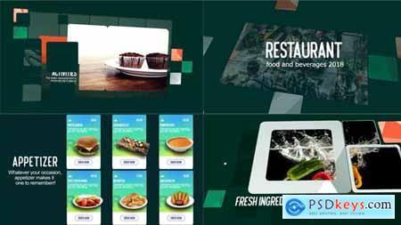 Restaurant Food & Beverages Menu Display 21465711