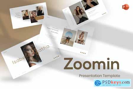 Zoomin Portfolio & Photography PowerPoint Template SHGZLSJ