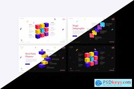 Moments Creative Party Planner PowerPoint Template 8VT7ETQ