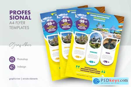 Travel Tours Flyer Templates Z2ANH6R