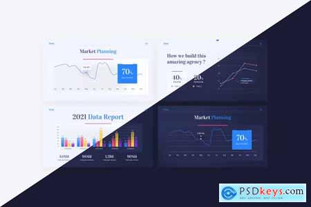 Mind Creative Agency PowerPoint Template 75GBNF7