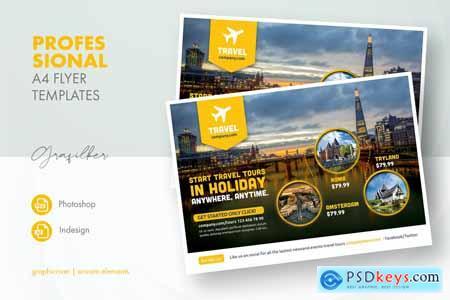 Travel Tours Flyer Templates 8BULTEF