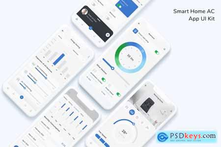 Smart Home AC App UI Kit CQC3TKQ