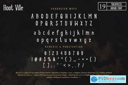 Hoot Ville - Spooky Font