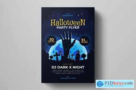 Zombie Rising Halloween Flyer Template