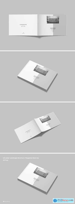 US Letter Landscape Brochure - Magazine Mock-Up v2