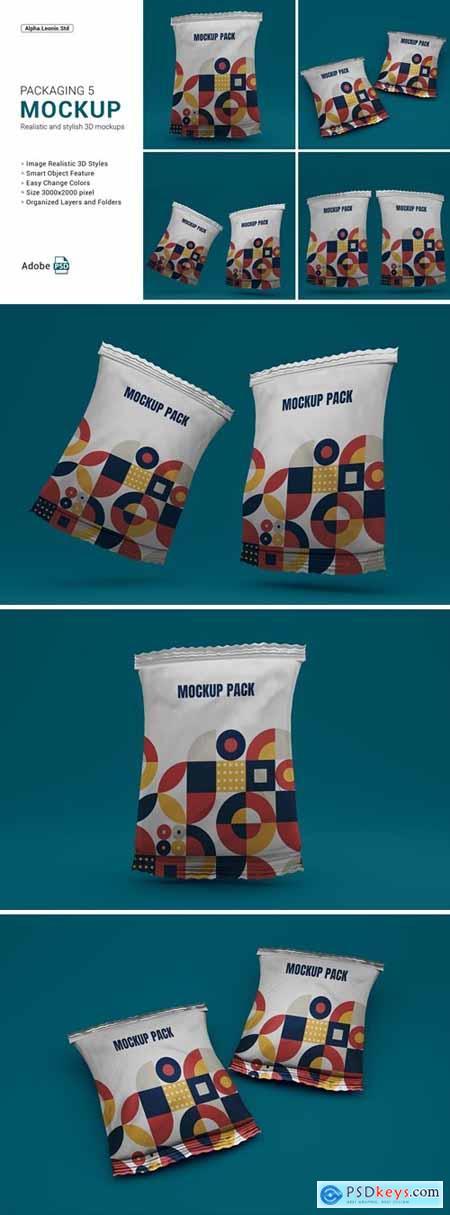 Mockup Snack Packaging