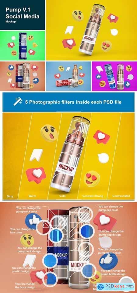 Pump V.1 Social Media Mockup