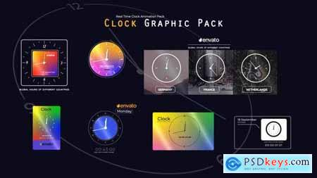 Real Time Clock Animation Pack 33784578