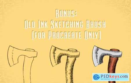 Vintage Engrave Pattern for Ps, Ai and Procreate