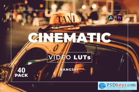 Bangset Cinematic Pack 40 Video LUTs HV685AM