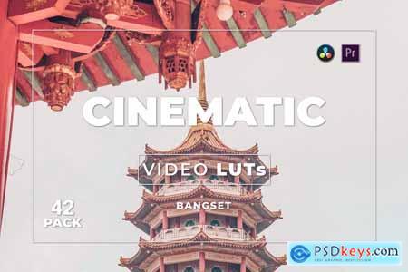 Bangset Cinematic Pack 42 Video LUTs KVGZSXG