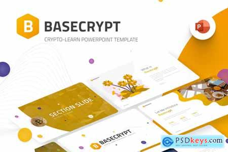 Basecrypt Crypto Learn PowerPoint Template 7RMEDVC