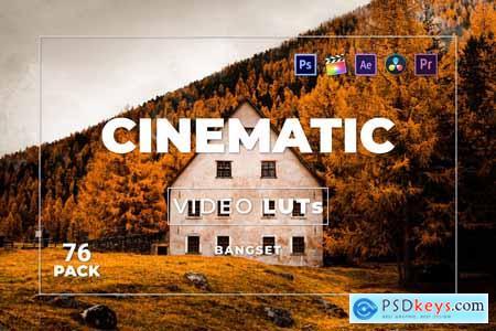Bangset Cinematic Pack 76 Video LUTs 4YKU4QA