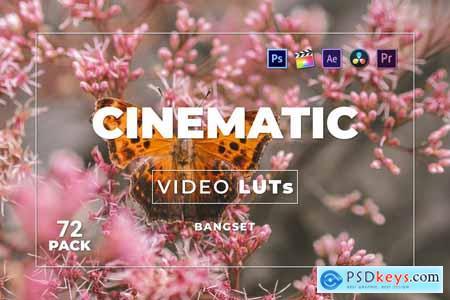 Bangset Cinematic Pack 72 Video LUTs Y7THRCC