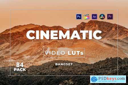Bangset Cinematic Pack 84 Video LUTs FQE53FJ