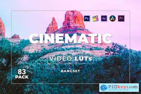 Bangset Cinematic Pack 83 Video LUTs HJBQ8RT