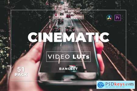 Bangset Cinematic Pack 51 Video LUTs WVXK8XH