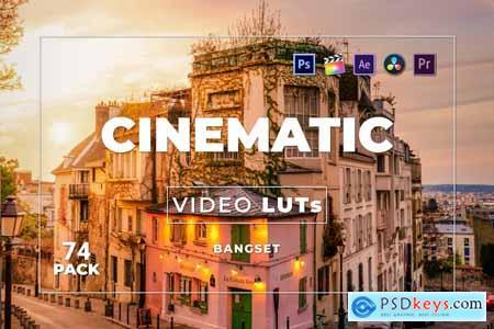 Bangset Cinematic Pack 74 Video LUTs 6RT7YHX