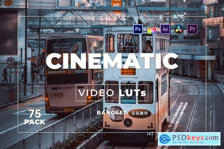 Bangset Cinematic Pack 75 Video LUTs WFZQ9PB