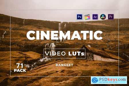 Bangset Cinematic Pack 71 Video LUTs RA2ZRCD