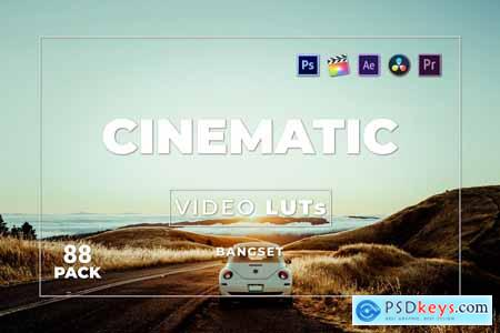 Bangset Cinematic Pack 88 Video LUTs 65GS97W