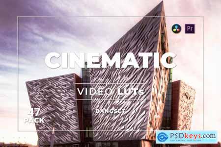 Bangset Cinematic Pack 47 Video LUTs QEMSPMM