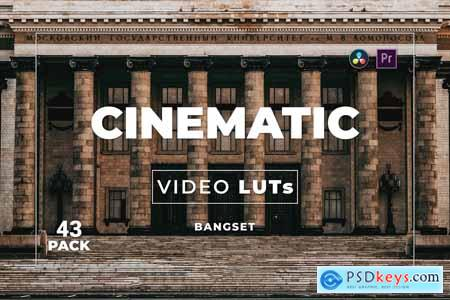 Bangset Cinematic Pack 43 Video LUTs 3DCGQEY