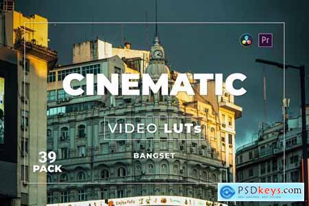 Bangset Cinematic Pack 39 Video LUTs HL6EHN3